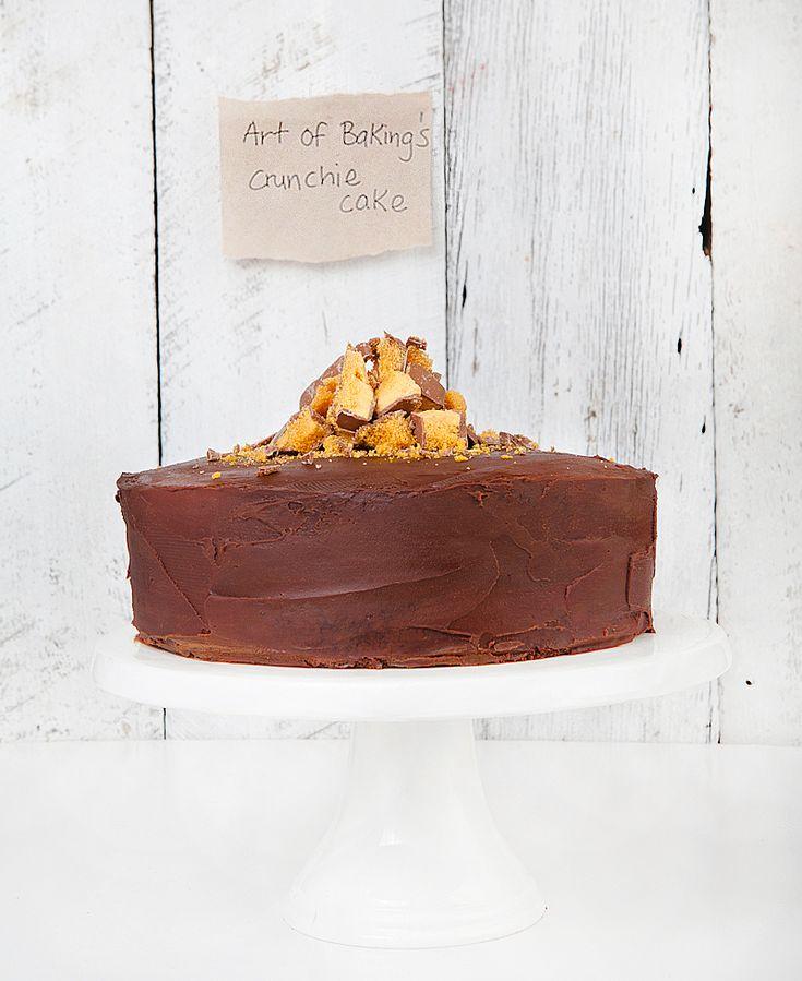 crunchie cake http://www.artofbaking.net/crunchie-cake/