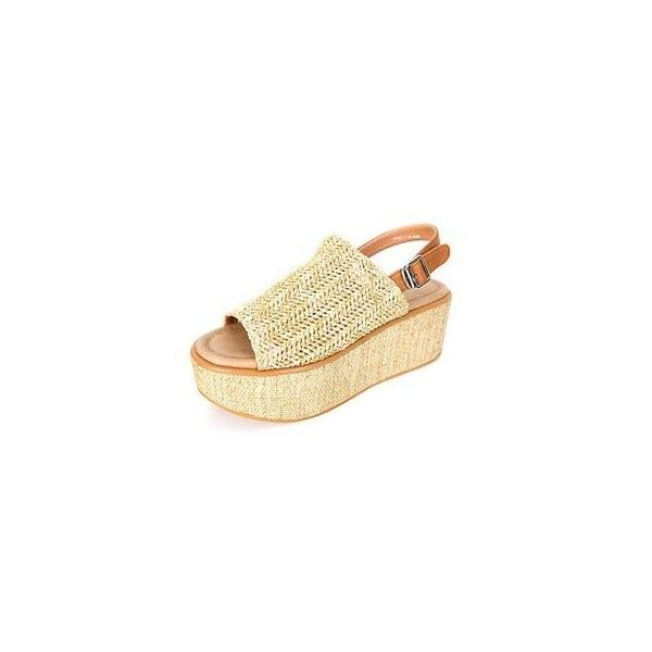 Woven Espadrille Platform Sandals ($77) ❤ liked on Polyvore featuring shoes, sandals, footware, platform sandals, beige espadrilles, black espadrilles, black shoes and black braided sandals