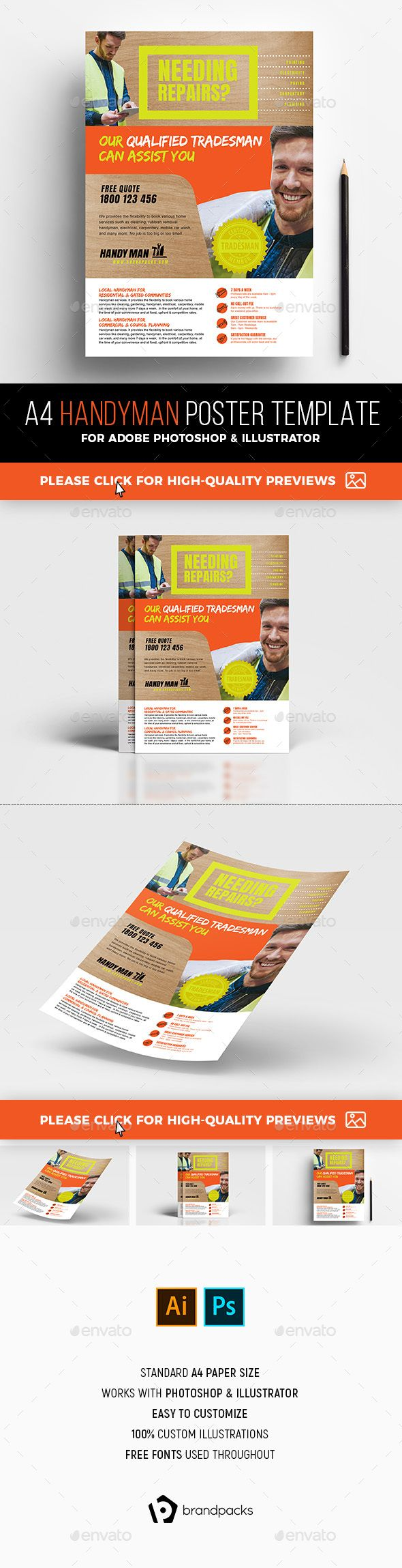 A4 Handyman Advertisement Template