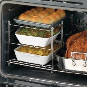Never knew these existed.  Now that I know I have to have one.  At Amazon.com for only $19.99Ideas, Nifty 3 Tiered, 3 Tiered Ovens, 3Tier Ovens, Cooking, Ovens Racks, Three Tiered Ovens, Threetier Ovens, Ovens Companion
