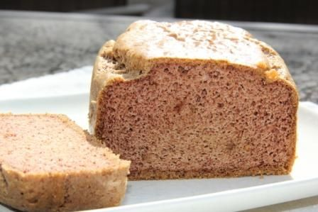 Almond butter bread(Gluten Free and Low Carb) OMG.We just made this and for reals its like regular bread! Not all gritty or grainy or overly moist.The tops all shiny like regular bread ...I just.. have no words! You guys HAVE to make this!  Its super easy to make, we just had to cook it 10 mins longer than the recipe stated.We cant wait to experiment with this bread base!