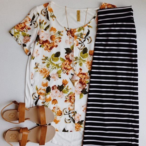 Floral & Stripes || perfect for spring/ summer