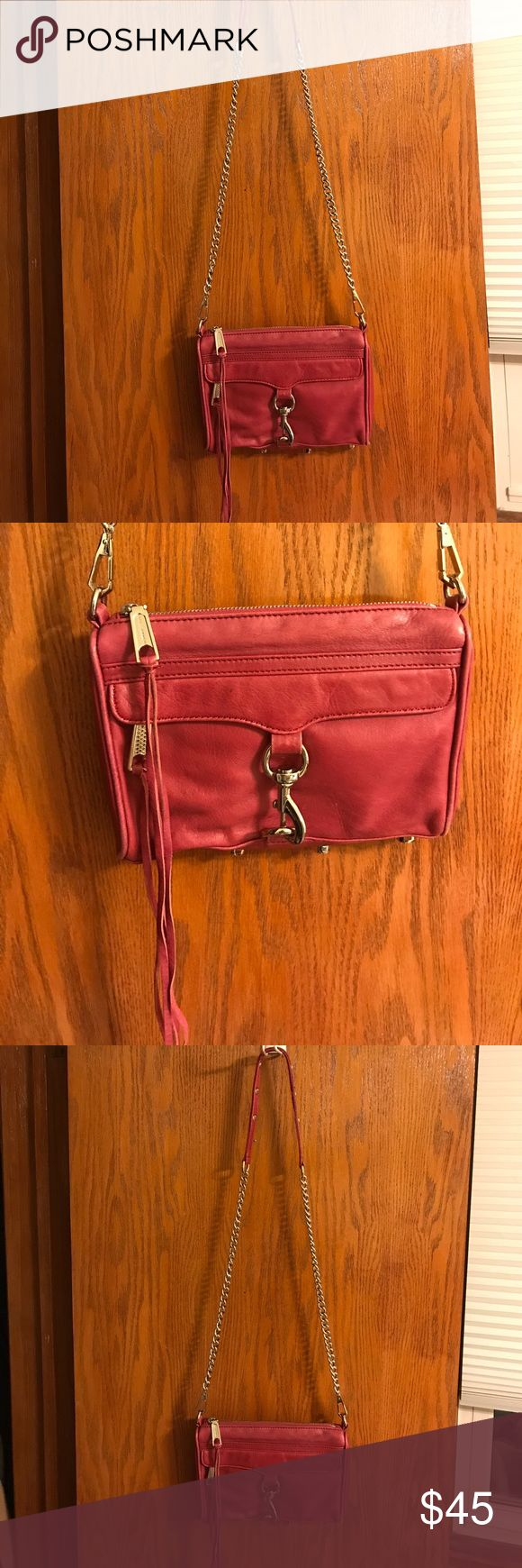 Rebecca Minkoff Mini MAC Bag Small leather crossbody bag in wine/berry color (comes with original dust bag) Rebecca Minkoff Bags Crossbody Bags