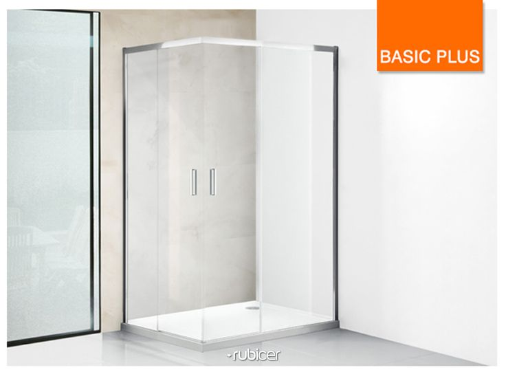 An ecologic solution! Rubicer's shower screen with anti-calc treatment.  #basicplus #diferentsolutions #showerscreen #resguardo #anticalcario #higiene #limpeza #eco #interiordesign #bath #water #render #glass #modern #simple #aesthetics #function #design #user #rubicer