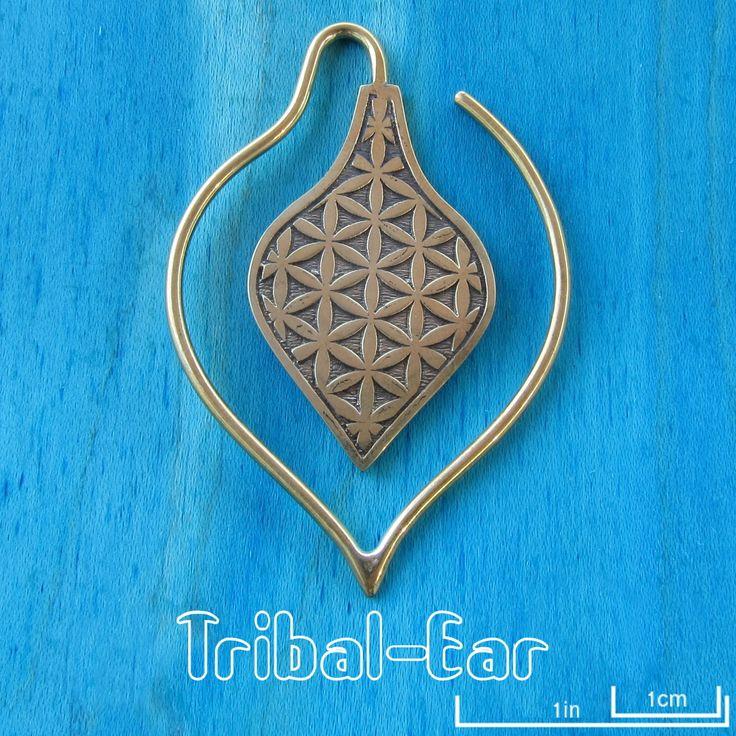 Piercing Earrings Tribal Ear Flower of life spade weight jewelry gift cadeau | Biżuteria i Zegarki, Ozdoby do ciała i piercingu, Biżuteria do piercingu | eBay!