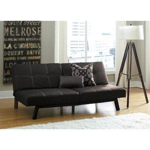 delaney faux leather futon sofa bed multiple colors