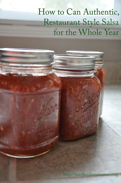 Canning Authentic, Restaurant Style Salsa . . . this recipe is our family's favorite!