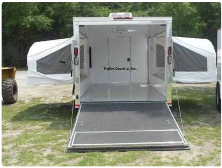 This is a great concept. Trailer to haul just about anything with fold out beds.  Just add kitchen in a drawer...