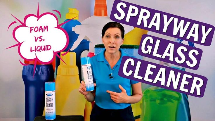 Sprayway glass cleaner product review foam vs spray