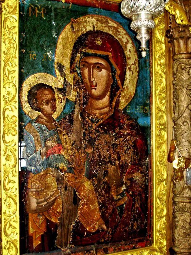 Η εικόνα της Παναγίας της Εγγυήτριας, στην οποία η Αγία Μαρία η Αιγυπτία υποσχέθηκε μετάνοια.  - ORTHOGNOSIA