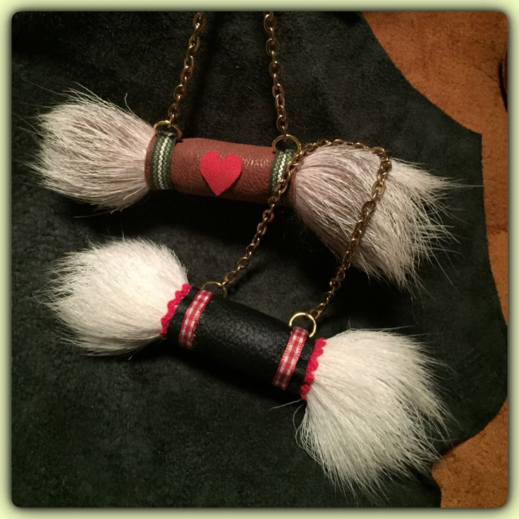 Christmas decorations made from reindeer leather and fur, with gold metal details. #joxogrejsbyae