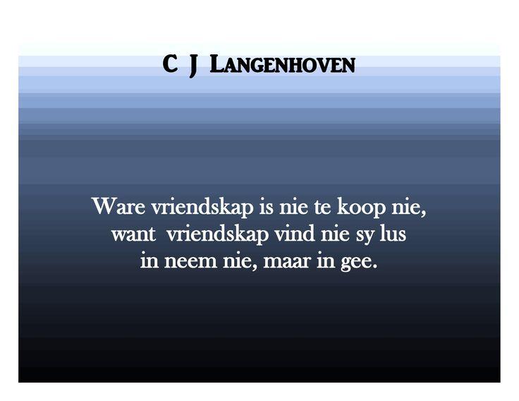 C J Langenhoven se spreuke