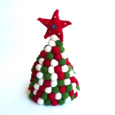 Felt ball Christmas tree  CHRISTMAS IN #HTFSTYLE