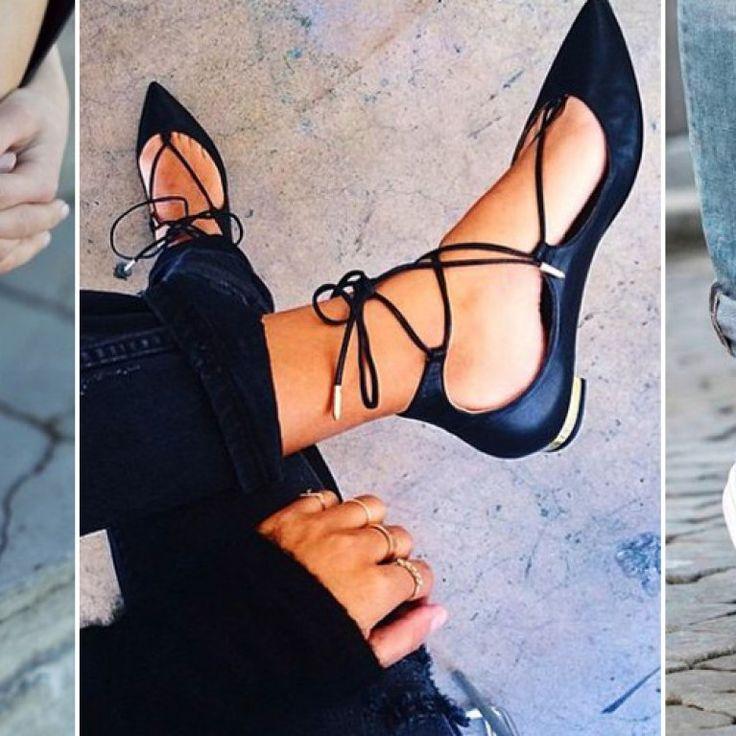 Na liście ubrań, które powinna mieć każda z nas są także buty: szpilki w kolorze nude, białe trampki i czarne baletki. Dlaczego właśnie one...