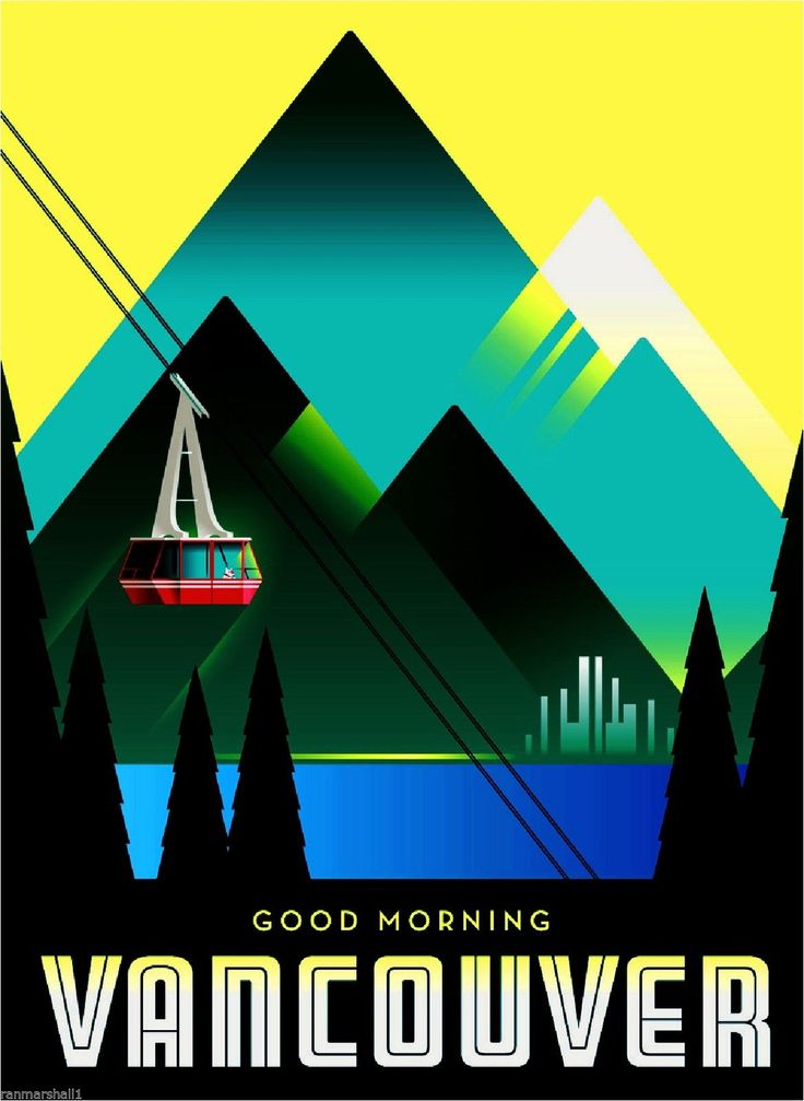 Canada Vancouver British Columbia Canadian Travel Advertisement Art Poster | eBay