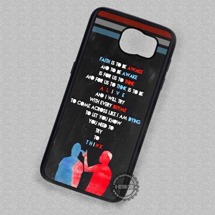 Band Quotes Twenty One Pilots - Samsung Galaxy S7 S6 S5 Note 7 Cases & Covers