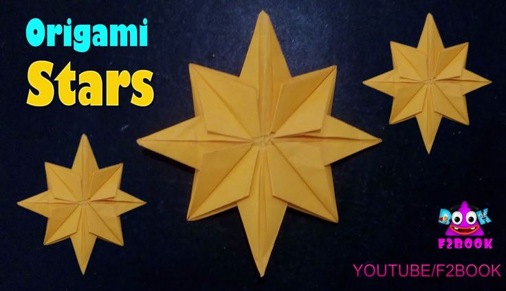 Stars Folding Origami Instructions - How to Fold an Origami Star || F2BO...