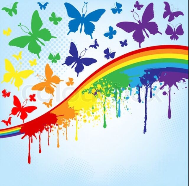 Rainbows and butterflies | Chasing Rainbows | Pinterest