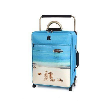 it Luggage World's Lightest 2 Wheel Trolley Case - Cabin Beach Slogan | Summer Shop | George at ASDA