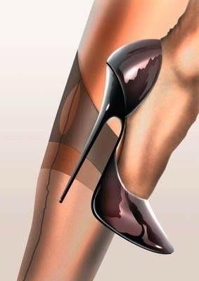 #blackhighheelsstockings #shoeshighheelsunique #lingerieshoeshighheels