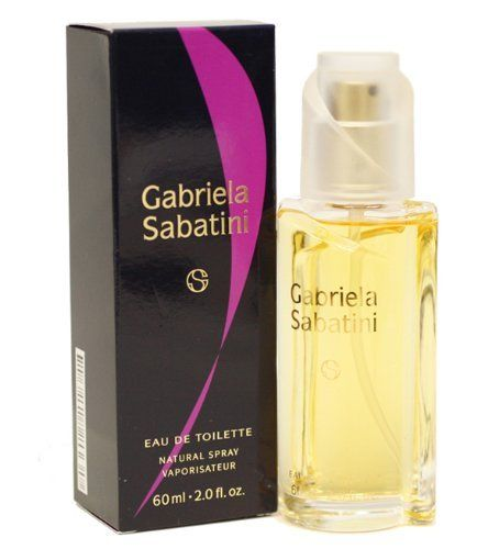 Gabriela Sabatini By Gabriela Sabatini For Women. Eau De Toilette Spray 2.0 Oz by Gabriela Sabatini. $14.44. Packaging for this product may vary from that shown in the image above. When applying any fragrance please consider that there are several factors which can affect the natural smell of your skin and, in turn, the way a scent smells on you.  For instance, your mood, stress level, age, body chemistry, diet, and current medications may all alter the sc...