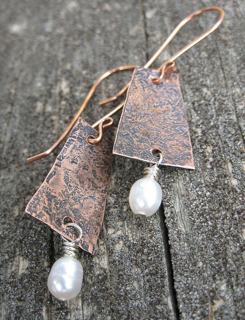 copper and pearls (sold) by Debbie / Prairie Emporium, via Flickr