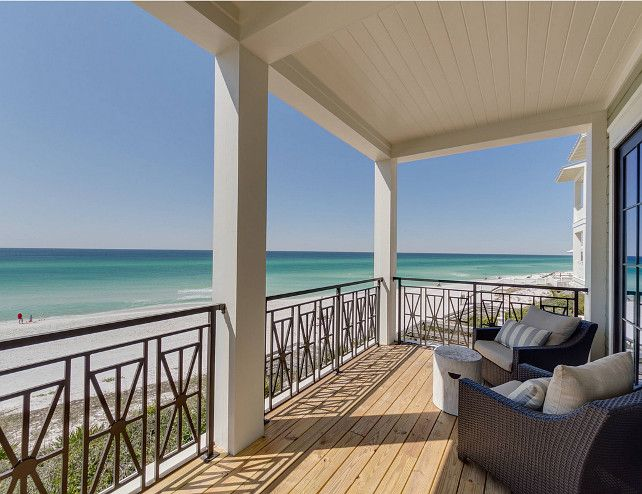 New Construction Beach House with Coastal Interiors. Sand beach and turquoise water...Beautiful Ocean View