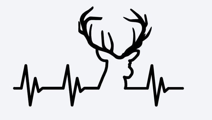 Deer Hunting Heartbeat - Vinyl Decal