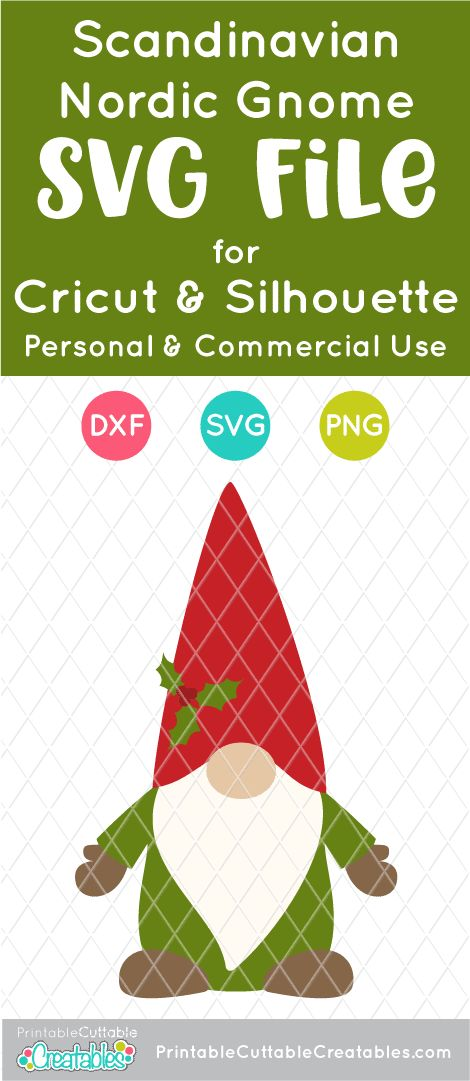 Download Scandinavian Nordic Gnome SVG File for Cricut & Silhouette ...