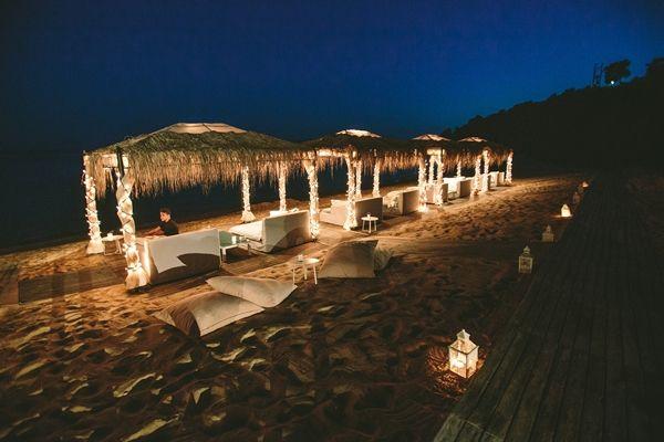 Beach Wedding Reception Deocr ideas | Greek island weddings