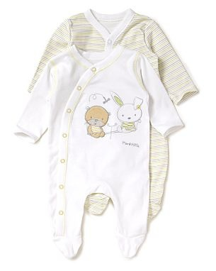 Max and Millie Baby Sleepsuits.