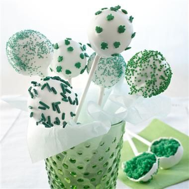 Luck o' the Irish Cake Pops (and other green recipes) from McCormick.com