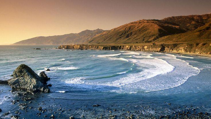Sand Dollar Beach And Santa Lucia Range, California