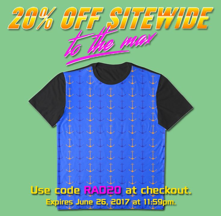 20% OFF Everything! Just use RAD20 at checkout. #discount #sales #save #tshirt #anchorstshirt #summer #redbubble #scardesign #giftsforhim #giftsforher #cooltshirts