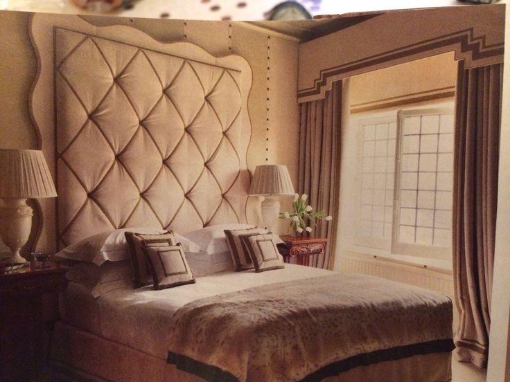 Headboard, walls, window treatments