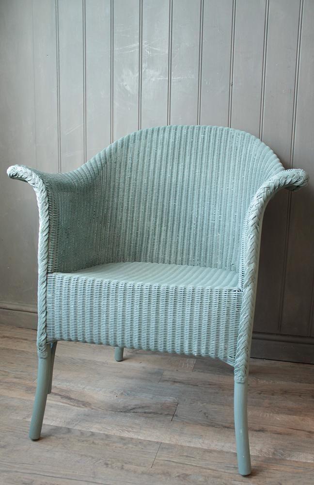 Belvoir Lloyd Loom Chair Painted in Duck Egg Blue