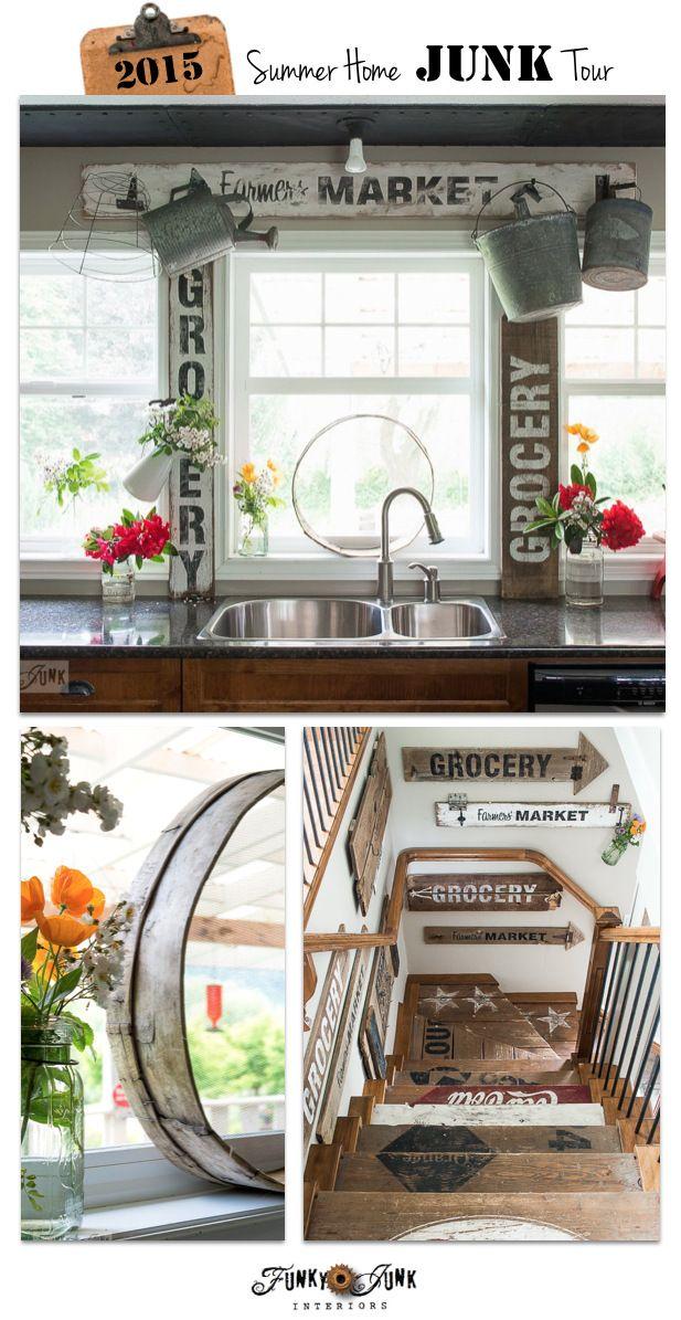 553 best decor kitchen crazy images on pinterest korn for Funky junk home decor newfoundland