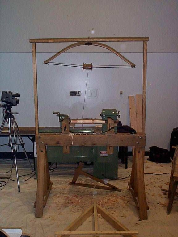 Pole Lathe Design With Bow Workshop Pinterest Design