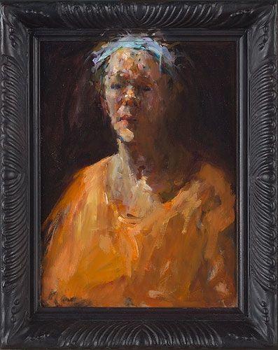 Dinie Boogaert, self-portrait oil on canvas 2011 38x28cm
