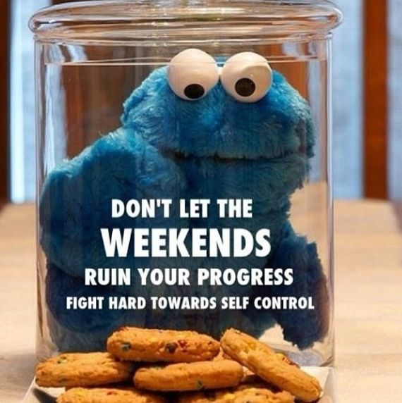 It is a challenge to stay on track on the weekends.  :P