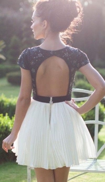 pleated open back dress