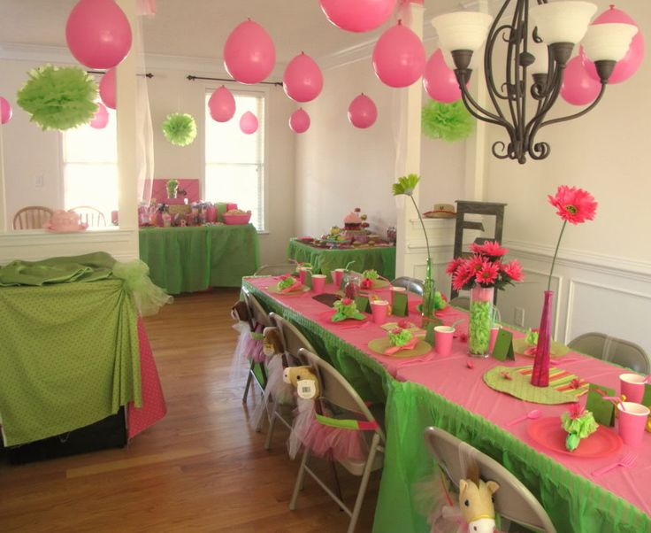 Birthday Party (with BubbleGum Pink & Lime Green colors)