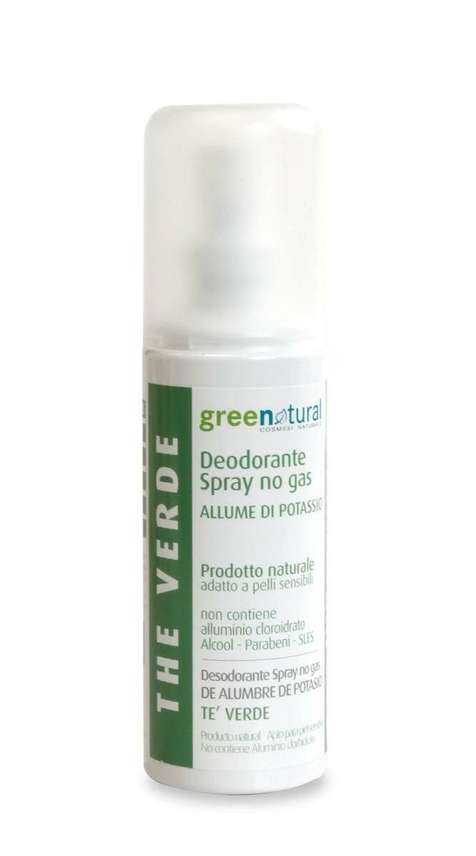 greenatural - deodorante-spray-te-verde- Allume di Potassio