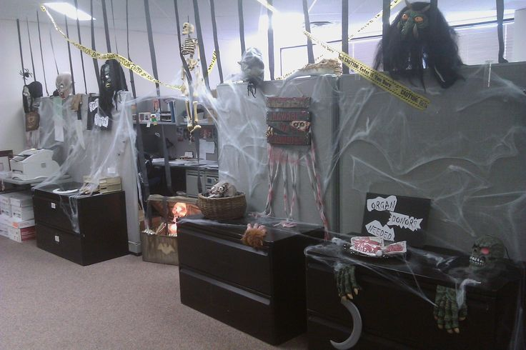 Halloween Decorations For The Office   ... into our company's (LRP Publication's) office-decorating contest
