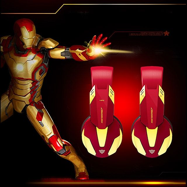 E-BLUE MARVEL IRON MAN 3 Edition EBT910 Bluetooth Headset with NFC