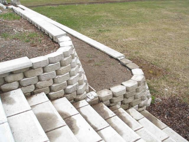 Easy DIY Retaining Wall ~ http://lovelybuilding.com/diy-retaining-wall-with-small-budget/