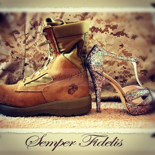 His boots, Her heels