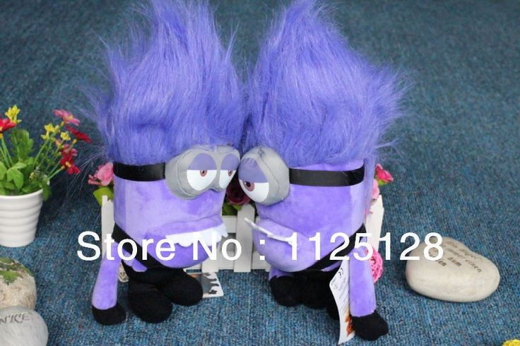 Гадкий я миньоны плюшевые игрушки куклы Гадкий я 2 Вор Папа фиолетовый плюшевые 12-дюймовые маленькие желтые люди 2 шт./лот