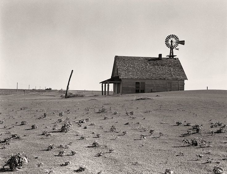 The History Place - Dorothea Lange Photo Gallery: Scenes from the Dustbowl: A Dustbowl Farm