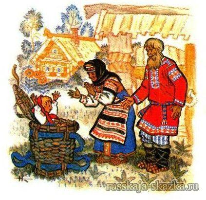 """Сказка """"Маша и медведь"""" http://russkaja-skazka.ru/masha-i-medved/ Вышли тут дедушка да бабушка к воротам. Видят — короб стоит. — Что это в коробе? — говорит бабушка. А дедушка поднял крышку, смотрит — и глазам своим не верит: в коробе Машенька сидит, живехонька и здоровехонька.  #сказки #картинки #МашаМедведь #art #Russia #Россия #добро #дети  #иллюстрации #paint #картины #художник #RussianFairyTales @russkajaskazka"""
